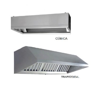 Campana de extracción cubica o trapezoidal minox