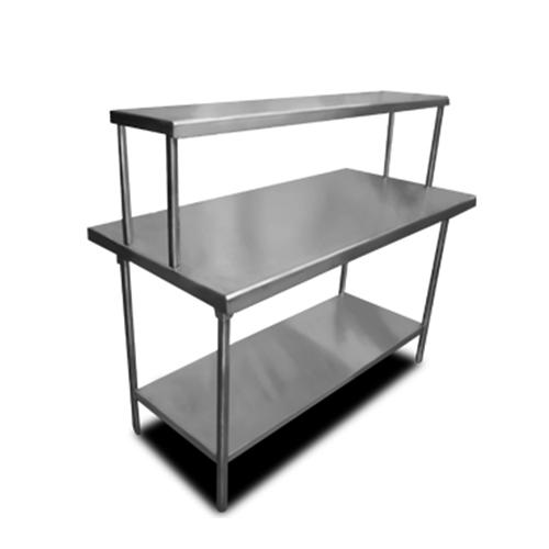 Mesa de trabajo con repisa sobre mesa y entrepa o for Mesa de trabajo dimensiones
