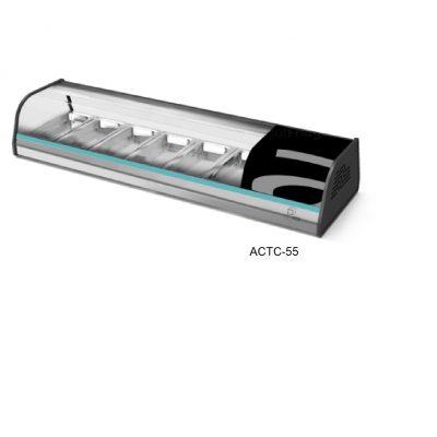 Vitrina refrigerada sobre mostrador linea tapas/sushi asber