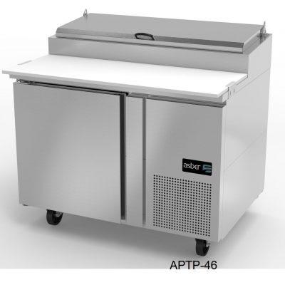Mesa refrigerada de preparación-pizzas asber