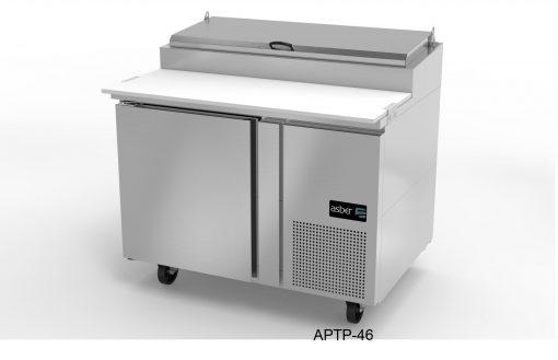 Mesa refrigerada de preparación pizzas asber