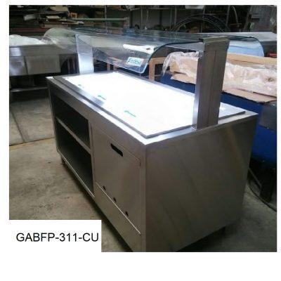 Gabinete con placa ref y cristal curvo minox