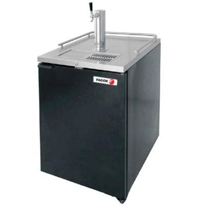 Dispensador refrigerado de cerveza en vinyl negro y A.I. asber R290