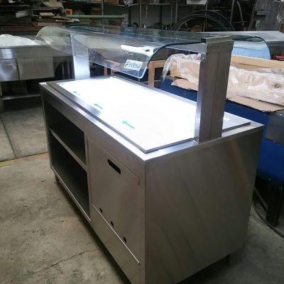 Gabinete Isla con placa Refrigerada