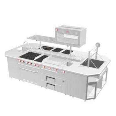 Isla de mesa cocina industrial