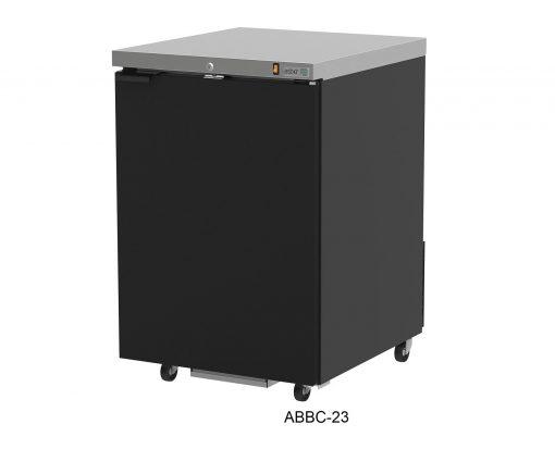 Refrigerador contrabarra en vinyl negro asber r290