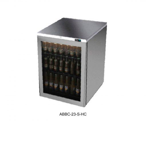 Refrigerador contrabarra en acero inox asber r290