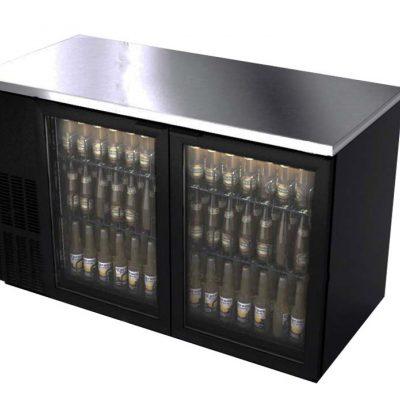 Refrigerador contra barra en vinyl negro asber linea slim line R290