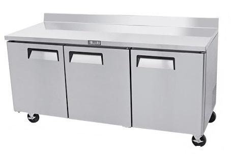 Mesa refrigerada bajo barra puerta solida atosa sobrinox