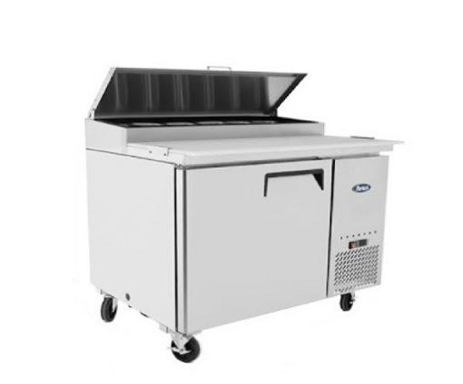 Mesa refrigerada de preparación de pizzas atosa/sobrinox