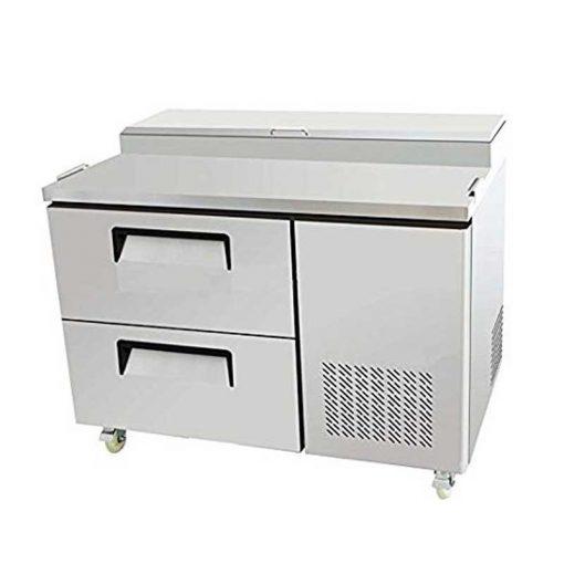 Mesa refrigerada de preparación-pizzas atosa/sobrinox