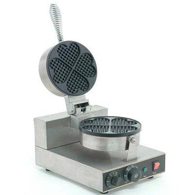 Wafflera sencilla eléctrica en forma de corazón migsa.
