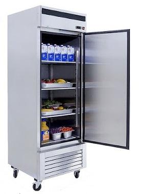 Refrigerador vertical puerta sólida atosa sobrinox