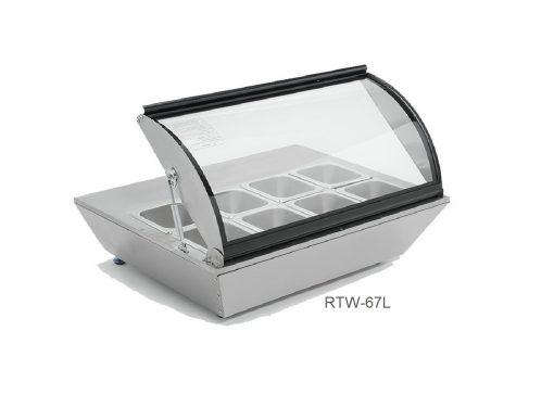 Base refrigerada de 8 insertos sobre mesa migsa