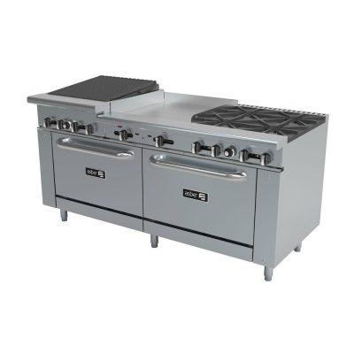 Estufa 4 fuegos plancha asador y 2 hornos asber