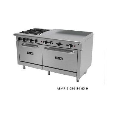 Estufa combinada 2 hornos linea restaurant asber