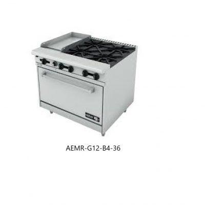 Estufa combinada con horno linea restaurante asber