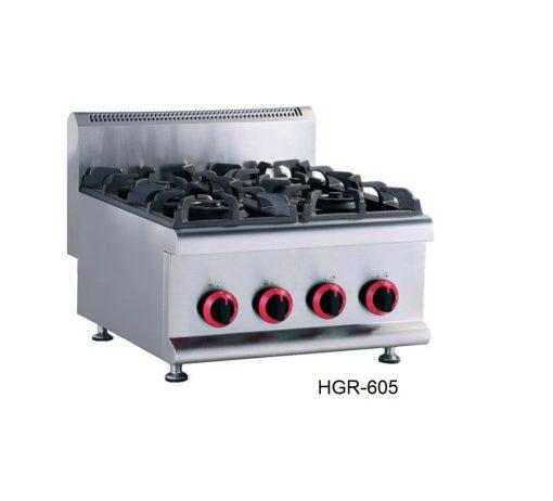 Parrilla modular 4 quemadores a gas migsa