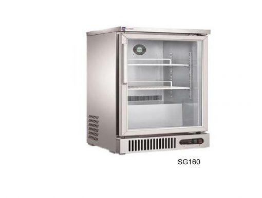 Refrigerador contra barra puertas de cristal migsa