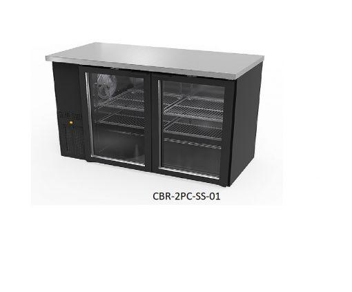 Refrigerador contra barra puertas de cristal icehaus