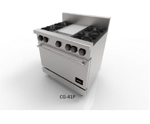 Estufa 4 y 6 quemadores horno y plancha drago