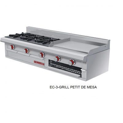 Estufa EC-3-grill petit de mesa coriat