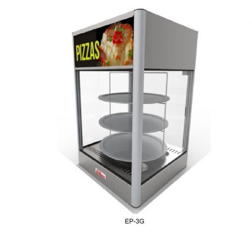 Exhibidor vitrina pizzera delibox