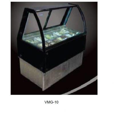 Vitrina cristal curvo expos de gelatto masser