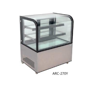 Vitrina refrigerada de piso con cristal curvo mi