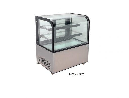 Vitrina refrigerada de piso cristal curvo migsa