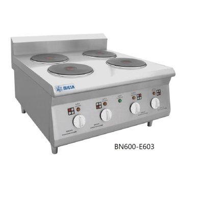 Parrilla eléctrica con 4 platos calientes migsa