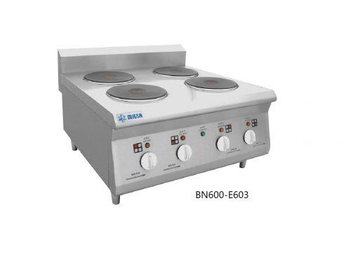 Parrillas eléctricas con 4 platos calientes migsa