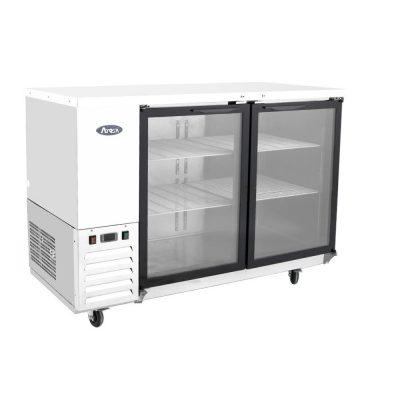Mesa refrigerada contra barra puerta cristal atosa sobrinox