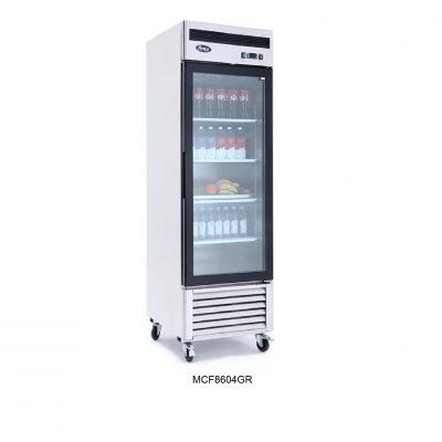 Refrigerador vertical puerta cristal atosa