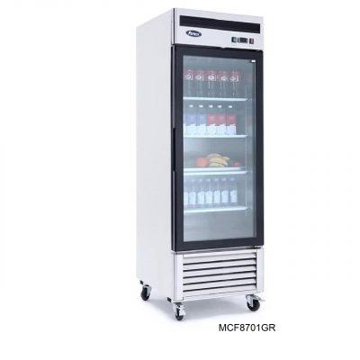 Congelador vertical puerta cristal atosa