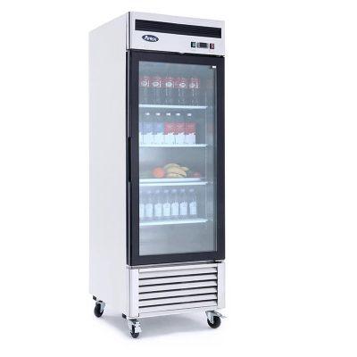 Congelador vertical puerta cristal atosa sobrinox
