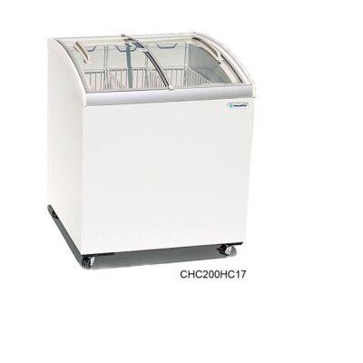 Congelador de helados cristal curvo metalfrio