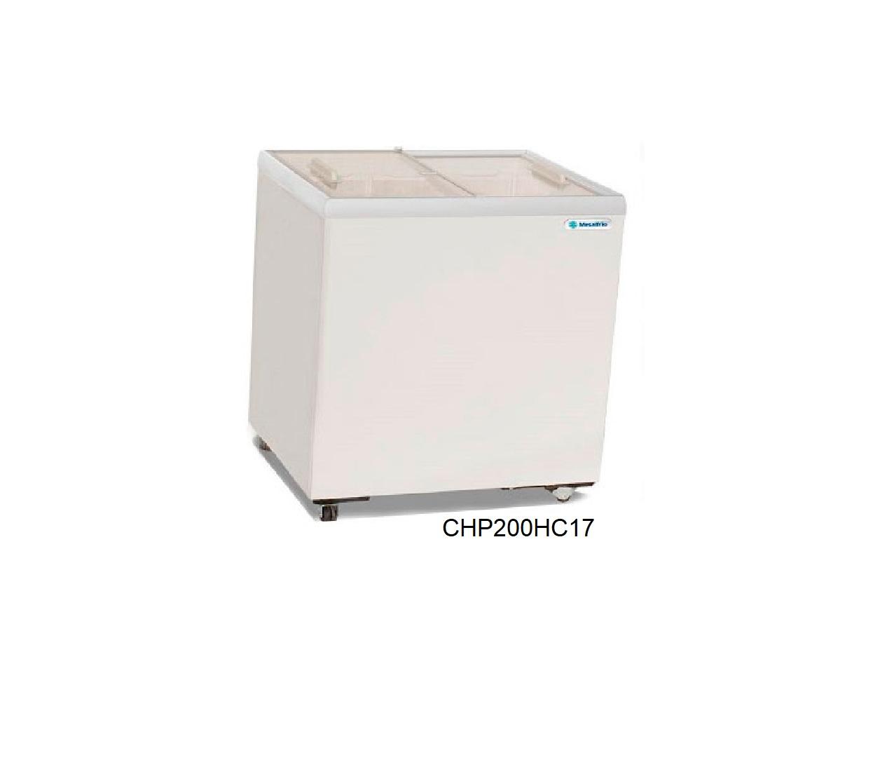 Congelador de helados cristal recto metalfrio