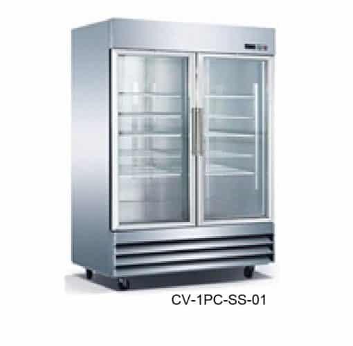 Congelador puertas de cristal icehaus